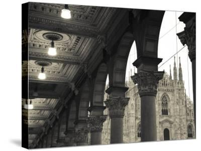 Lombardy, Milan, Piazza Del Duomo, Duomo, Cathedral, Dawn, Italy-Walter Bibikow-Stretched Canvas Print