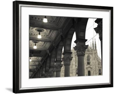 Lombardy, Milan, Piazza Del Duomo, Duomo, Cathedral, Dawn, Italy-Walter Bibikow-Framed Photographic Print