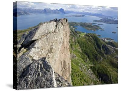 Nordland, Helgeland, Rodoy Island, View of the Surrounding Islands from the 400 Metre High Peak of -Mark Hannaford-Stretched Canvas Print