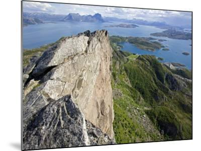 Nordland, Helgeland, Rodoy Island, View of the Surrounding Islands from the 400 Metre High Peak of -Mark Hannaford-Mounted Photographic Print
