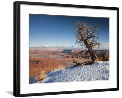 Utah, Moab, Dead Horse Point State Park, View of the Meander Canyon, Winter, USA-Walter Bibikow-Framed Photographic Print