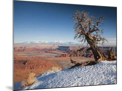 Utah, Moab, Dead Horse Point State Park, View of the Meander Canyon, Winter, USA-Walter Bibikow-Mounted Photographic Print