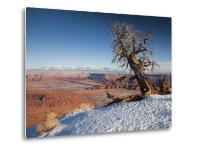 Utah, Moab, Dead Horse Point State Park, View of the Meander Canyon, Winter, USA-Walter Bibikow-Metal Print