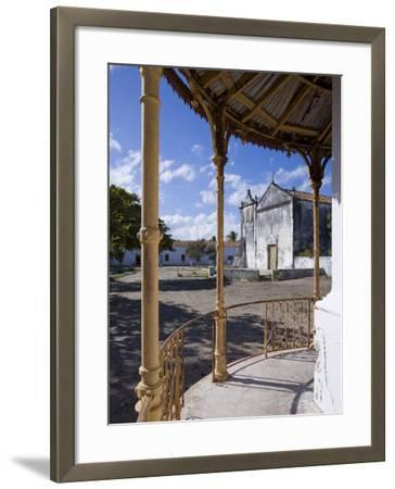 Catholic Church on the Main Square of Ibo Island, Part of the Quirimbas Archipelago, Mozambique-Julian Love-Framed Photographic Print