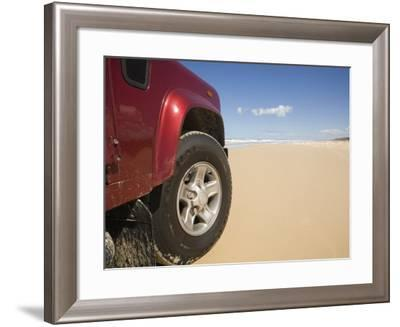 Queensland, Fraser Island, Four Wheel Driving on Sand Highway of Seventy-Five Mile Beach, Australia-Andrew Watson-Framed Photographic Print