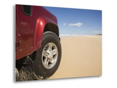 Queensland, Fraser Island, Four Wheel Driving on Sand Highway of Seventy-Five Mile Beach, Australia-Andrew Watson-Metal Print