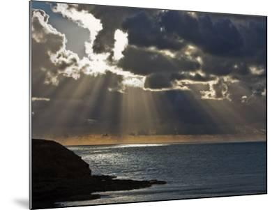 Victoria, Sun's Rays and Clouds across the Sea at Phillip Island, Australia-Nigel Pavitt-Mounted Photographic Print