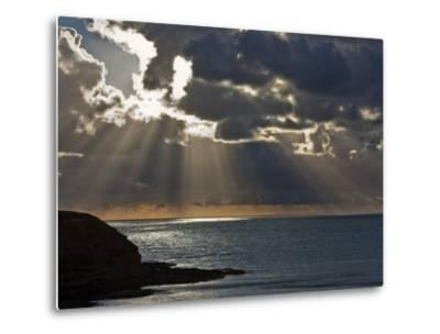 Victoria, Sun's Rays and Clouds across the Sea at Phillip Island, Australia-Nigel Pavitt-Metal Print
