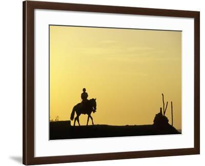 Boy on Horseback at the Beach Village of M! Ncora, in Northern Peru-Andrew Watson-Framed Photographic Print