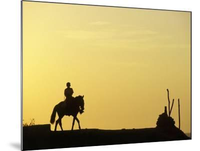 Boy on Horseback at the Beach Village of M! Ncora, in Northern Peru-Andrew Watson-Mounted Photographic Print