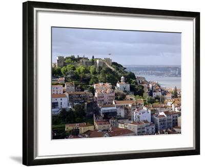 Lisbon, the Castelo Sao Jorge in Lisbon with the Rio Tejo in the Background, Portugal-Camilla Watson-Framed Photographic Print