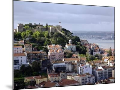 Lisbon, the Castelo Sao Jorge in Lisbon with the Rio Tejo in the Background, Portugal-Camilla Watson-Mounted Photographic Print