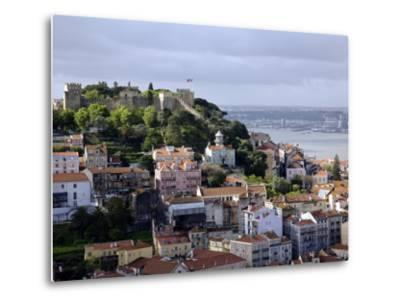 Lisbon, the Castelo Sao Jorge in Lisbon with the Rio Tejo in the Background, Portugal-Camilla Watson-Metal Print