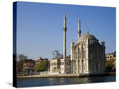 Mecidiye Mosque Stands on Water's Edge at Ortakoy, One of Pretty Bosphorus Villages in Istanbul-Julian Love-Stretched Canvas Print