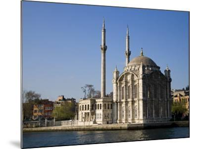 Mecidiye Mosque Stands on Water's Edge at Ortakoy, One of Pretty Bosphorus Villages in Istanbul-Julian Love-Mounted Photographic Print