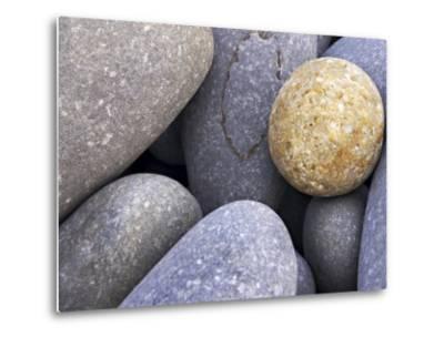 Pebbles in Sandymouth Beach, Cornwall, UK-Nadia Isakova-Metal Print