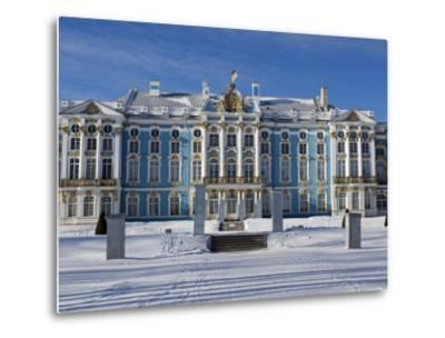 St Petersburg, Tsarskoye Selo, Catherine Palace Was Commissioned by the Empress Elizabeth, Russia-Nick Laing-Metal Print
