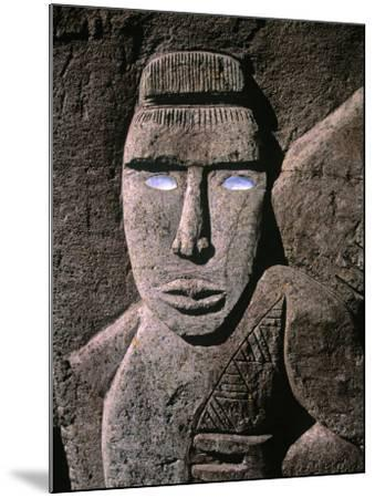 Traditional Stone Carving, Rarotonga, Cook Islands-Neil Farrin-Mounted Photographic Print