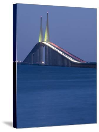 Sunshine Skyway Bridge, Tampa Bay, Saint Petersburg, Florida-John Coletti-Stretched Canvas Print