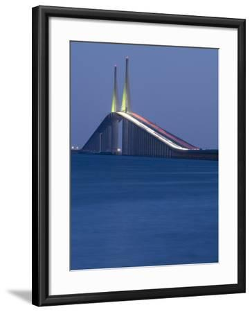 Sunshine Skyway Bridge, Tampa Bay, Saint Petersburg, Florida-John Coletti-Framed Photographic Print