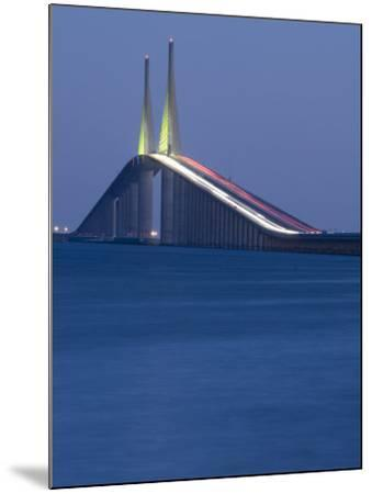 Sunshine Skyway Bridge, Tampa Bay, Saint Petersburg, Florida-John Coletti-Mounted Photographic Print