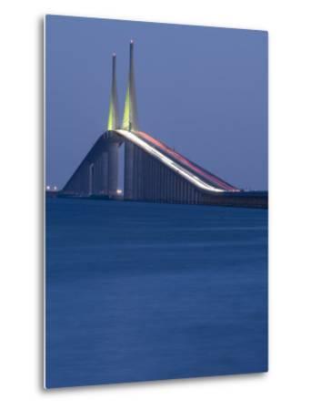 Sunshine Skyway Bridge, Tampa Bay, Saint Petersburg, Florida-John Coletti-Metal Print