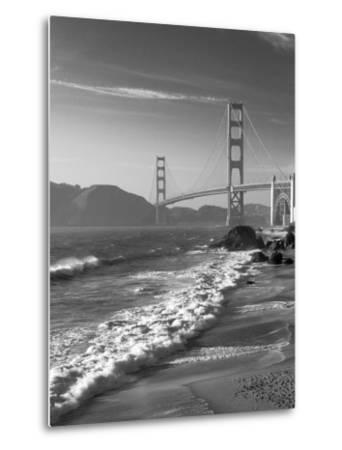 California, San Francisco, Golden Gate Bridge from Marshall Beach, USA-Alan Copson-Metal Print