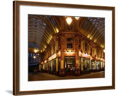England, London, the Leadenhall Market in the City of London, UK-David Bank-Framed Photographic Print