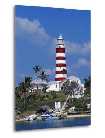 Lighthouse at Hope Town on the Island of Abaco, the Bahamas-William Gray-Metal Print