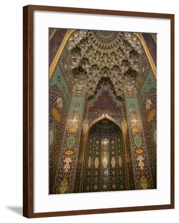 The Mihrab in the Sultan Qaboos Grand Mosque, Muscat, Oman, Middle East-Godong-Framed Photographic Print