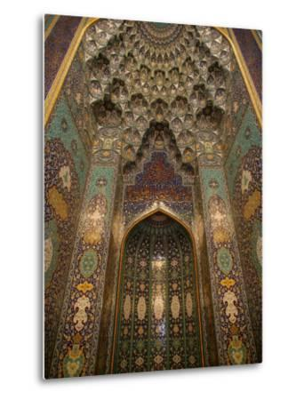 The Mihrab in the Sultan Qaboos Grand Mosque, Muscat, Oman, Middle East-Godong-Metal Print
