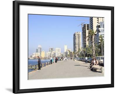 Corniche, Beirut, Lebanon, Middle East-Wendy Connett-Framed Photographic Print