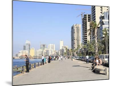 Corniche, Beirut, Lebanon, Middle East-Wendy Connett-Mounted Photographic Print