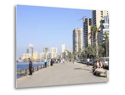 Corniche, Beirut, Lebanon, Middle East-Wendy Connett-Metal Print