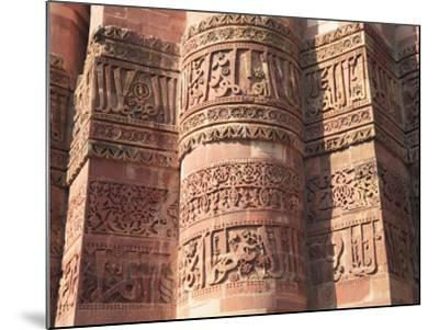 Detail of Qutab Minar Tower, UNESCO World Heritage Site, New Delhi, India, Asia-Wendy Connett-Mounted Photographic Print