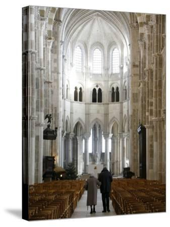 Vezelay Basilica, UNESCO World Heritage Site, Vezelay, Yonne, Burgundy, France, Europe-Godong-Stretched Canvas Print