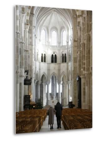 Vezelay Basilica, UNESCO World Heritage Site, Vezelay, Yonne, Burgundy, France, Europe-Godong-Metal Print