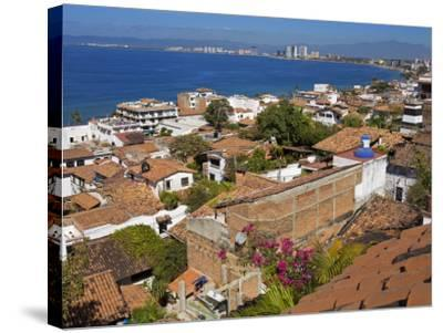 Tiled Roofs, Puerto Vallarta, Jalisco State, Mexico, North America-Richard Cummins-Stretched Canvas Print