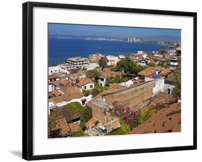 Tiled Roofs, Puerto Vallarta, Jalisco State, Mexico, North America-Richard Cummins-Framed Photographic Print
