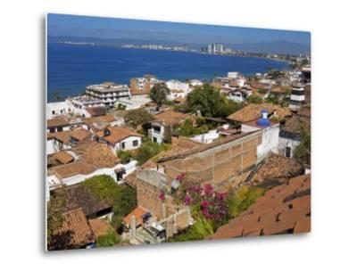 Tiled Roofs, Puerto Vallarta, Jalisco State, Mexico, North America-Richard Cummins-Metal Print