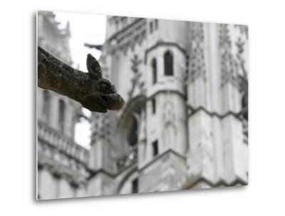 St. Gatien Cathedral Gargoyle, Tours, Indre-Et-Loire, France, Europe-Godong-Metal Print