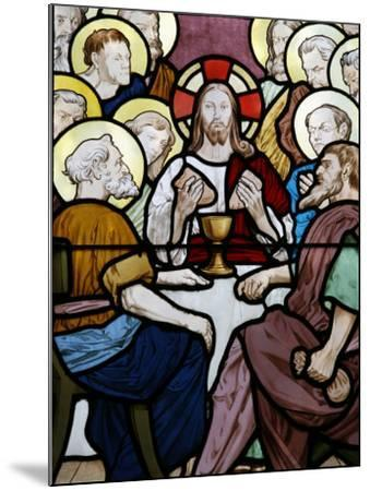 Stained Glass Depicting the Last Supper at Saint-Honor? D'Eylau Church, Paris, Ile De France-Godong-Mounted Photographic Print