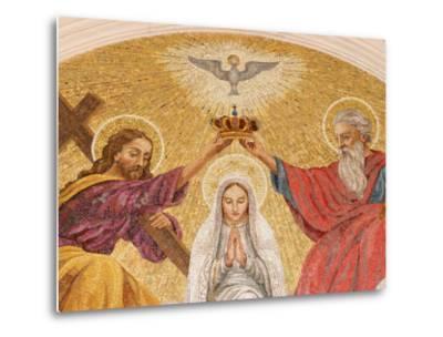 Coronation of the Virgin Mary, Basilica of Fatima, Fatima, Estremadura, Portugal, Europe-Godong-Metal Print