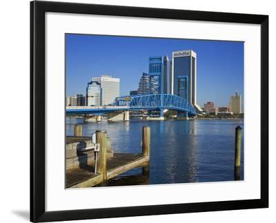 Main Street Bridge and Skyline, Jacksonville, Florida, United States of America, North America-Richard Cummins-Framed Photographic Print