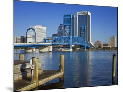 Main Street Bridge and Skyline, Jacksonville, Florida, United States of America, North America-Richard Cummins-Mounted Photographic Print