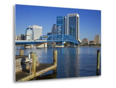 Main Street Bridge and Skyline, Jacksonville, Florida, United States of America, North America-Richard Cummins-Metal Print