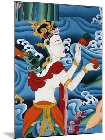 Painting of a Tibetan Deity, Kopan Monastery, Kathmandu, Nepal, Asia-Godong-Mounted Photographic Print