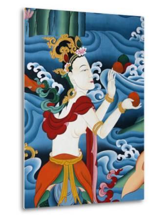 Painting of a Tibetan Deity, Kopan Monastery, Kathmandu, Nepal, Asia-Godong-Metal Print