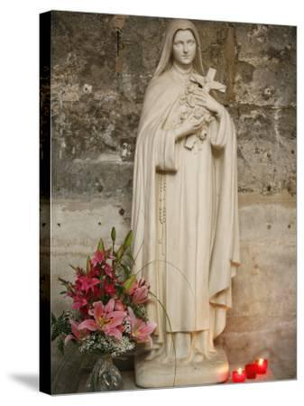 Statue of St.Therese De Lisieux, Semur-En-Auxois, Cote D'Or, Burgundy, France, Europe-Godong-Stretched Canvas Print