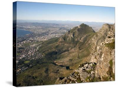 Table Mountain, Cape Town, South Africa, Africa-Andrew Mcconnell-Stretched Canvas Print